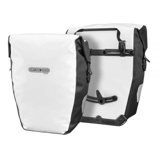 Ortlieb Back-Roller City QL1 Packtaschenset, 2x20 l. - weiß-schwarz
