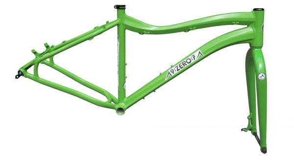 9:zero:7 Frameset ALU 197mm Whiteout AL 2015 - kermit green