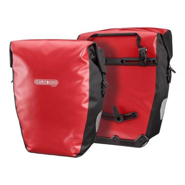 Ortlieb Back-Roller City QL1 Packtaschenset, 2x20 l. - rot-schwarz
