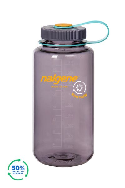 Nalgene - Wide Mouth Sustain Bottle Aubergine 1,0l