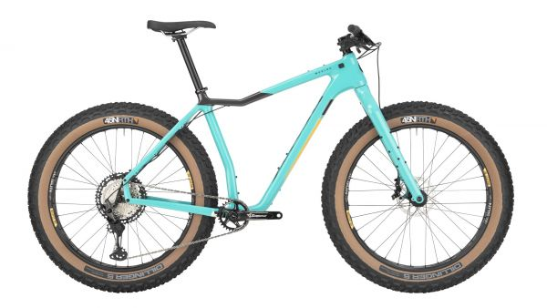 "Salsa Mukluk Carbon XT Fatbike Komplettrad, 26"", teal"